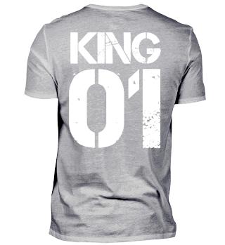 King 01 Vater Tochter Partnerlook Shirt