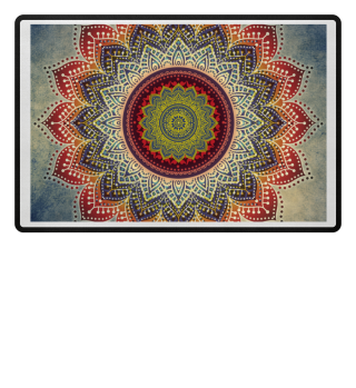 ♥ Folklore Lotus Mandala Blue Red