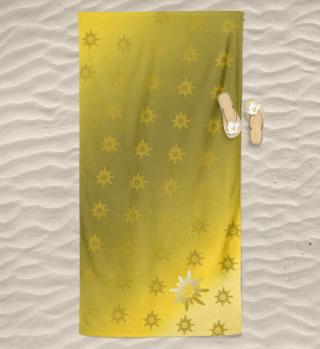 Badetuch-Edelweiß in gold