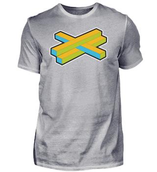 Geek Cross Figure Illusion Retro