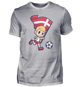 Fußball Dänemark Flagge Junge Kind Sport