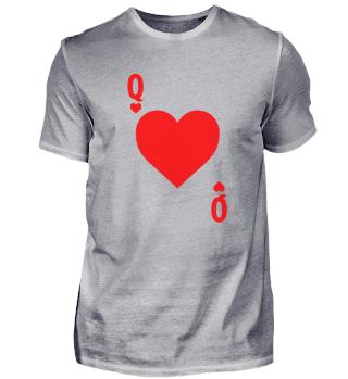 Herzdame Kartenspiel Gamble Geschenk