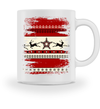 ★ Christmas Ornaments Grunge Pattern I