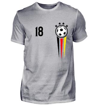 Deutschland Trikot Fußball Fussball Soccer Team Mannschaft 2018 Geschenk Gift Geburtstag Geschenk Darwin Silhouette