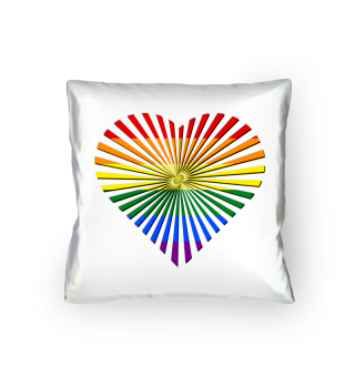 Gay Pride Rainbow Flag - Love Heart