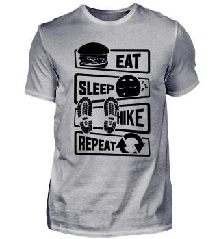 Eat Sleep Hike Repeat - Nature Hiking