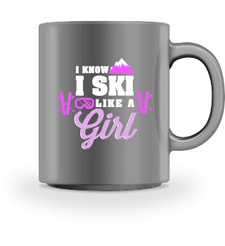 Ich fahre Ski wie ein Mädchen, ich weiß!