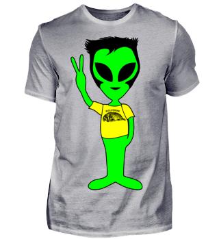 Peace Alien - Wolverines Animal Fan