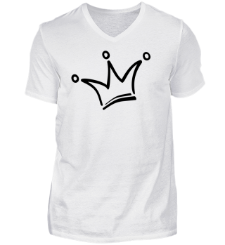 Funny Royal Comic Crown - black