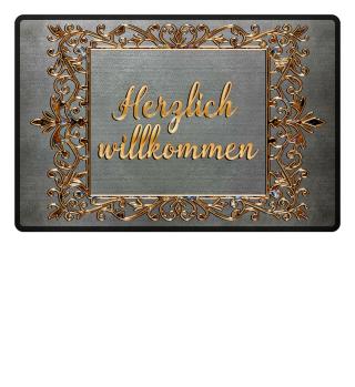 Golden Vintage Frame - willkommen