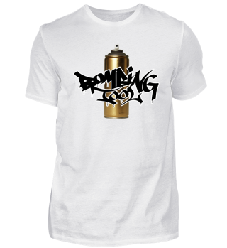 Golden Can Bombing Tool - Graffiti Shirt