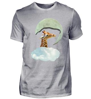 Giraffe Moon Clouds | Surreal Art
