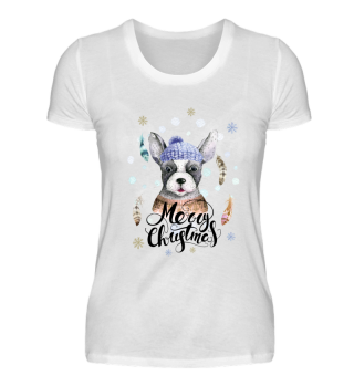 ☛ Merry Christmas · Boho Dog · Hund #7B