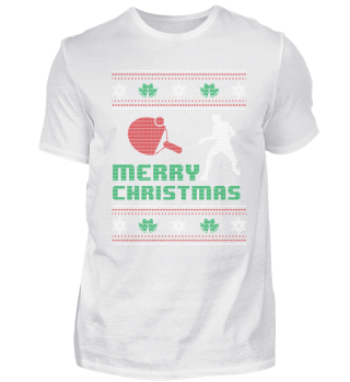 Funny Table Tennis Shirt Merry Christmas