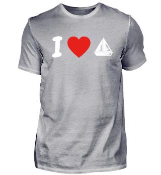 Ich liebe love selgeln segelschiff boat sailing sail geschenk geburtstag liebe
