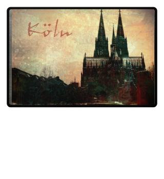 Köln - Cologne Fußmatte