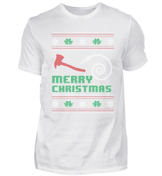Funny Firefighter Shirt Merry Christmas