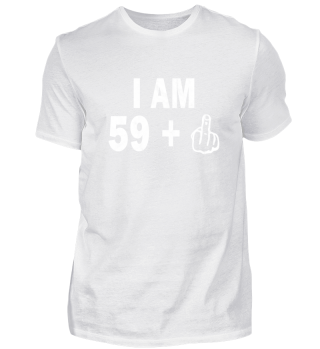 60th Birthday T-Shirt Middle Finger