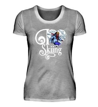 ☛ I LOVE SKIING #1W