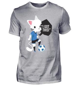 Fußball Ball Katze Geschenk Kinder Comic