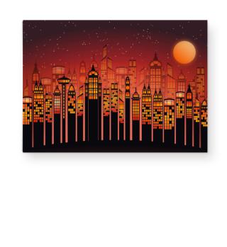 ★ Full Moon In The City - orange I