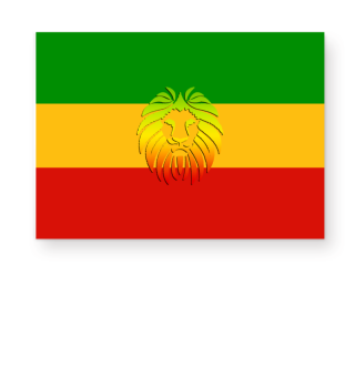 ★ Rastafari Lion Flag green yellow red I