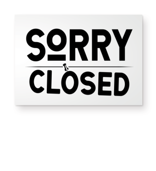 ☛ SORRY · CLOSED #2SF
