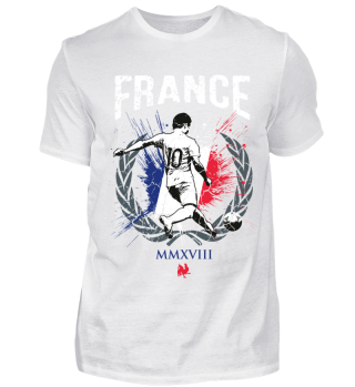 FRANCE FAN-SHIRT Nationalfarben Fußball