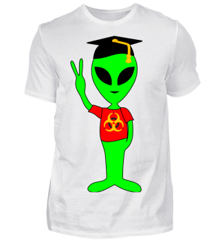 Peace Alien - college student bioazard