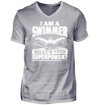 Funny Swim Swimming Shirt I Am A