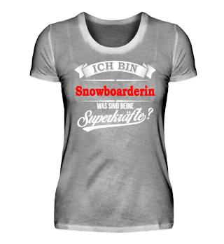 Snowboarderin Snowboarden Superkräfte