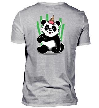 Panda Eiswaffel aufm Kopf Geschenk