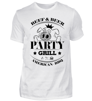 GRILL SHIRT · PARTYGRILL · AMERICAN BBQ #2.1