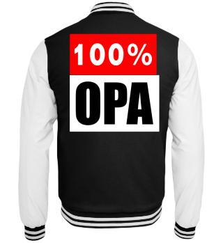 Großeltern Jacke 100% Opa