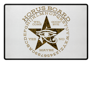 Mystical Pentagram Horus Board - gold 2