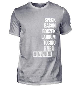 Bacon, verschiedene Sprachen