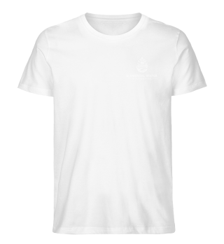 Organic T-shirt with White Logo