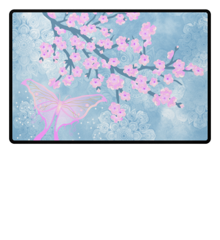 ♥ Cherry Blossoms Butterfly Mandala 1