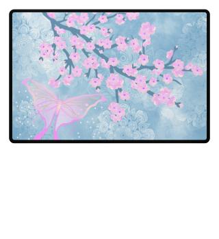 ♥ Cherry Blossoms Butterfly Mandala 1