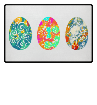 ★ Three Ornaments Easter Eggs grunge 1a