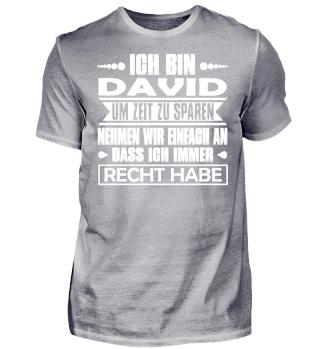 David - Ich habe immer Recht