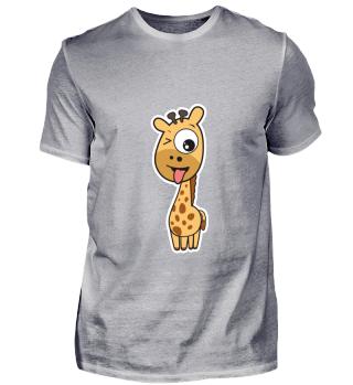 kleine lustige Giraffe