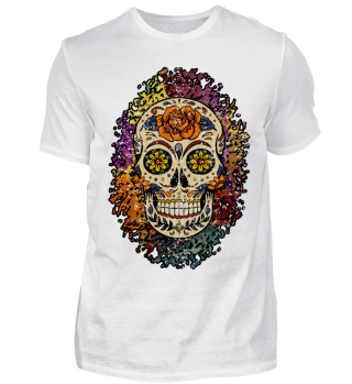 Sugar Skull Rose Splatter I