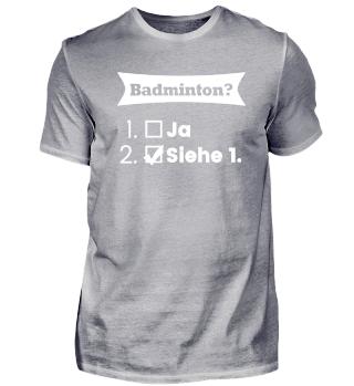 BADMINTON Geschenkidee Geburtstags Motiv