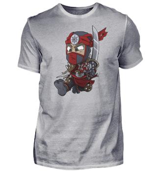 Japanese Spy Gaming Red Ninja Warrior