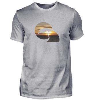 Wellenreiten Sonnenuntergang