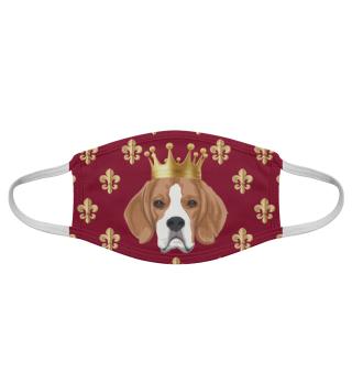 Behelfsmaske Beagle King (rot)