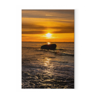 Sonnenuntergang Stein Leinwand