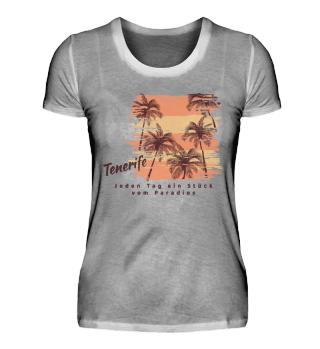 T-Shirt Damen Oranic / Tenerife