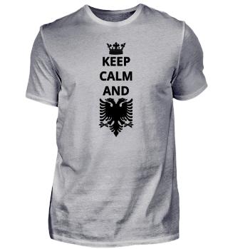 geschenk keep calm and ALBANIEN